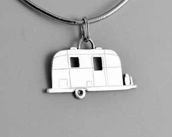 Iconic Travel Trailer Pendant by CGSilverworks