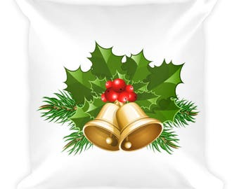 Bells and Holly 18×18 Pillow