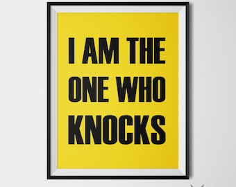 Breaking Bad Wall Art, Typography Print, Breaking Bad Poster, Instant Download, 11x14 Wall Print, Walter White Quote, Yellow Wall Decor