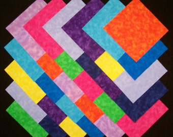 BRIGHT BLENDERS 5 inch Squares, 100% cotton, Prewashed Quilt Block Fabric  (#42A)