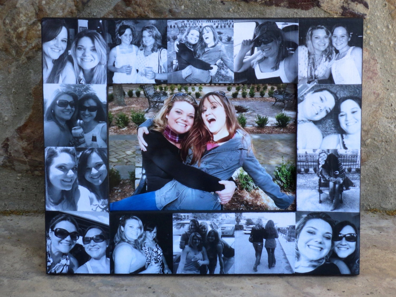 Best Friends Photo Collage Frame, Personalized Sister Gift, Unique ...