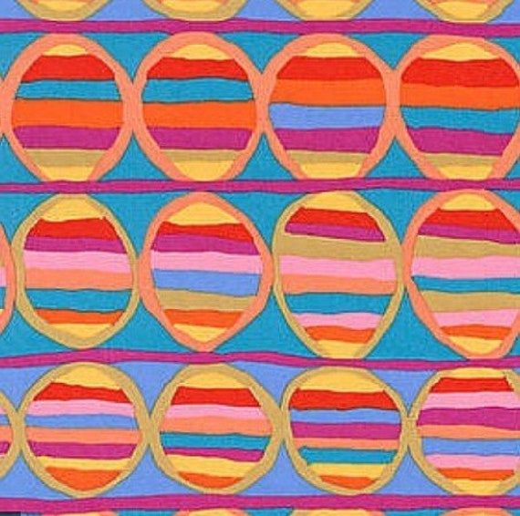 HEAT WAVE Turquoise Brandon Mably Kaffe Fassett Collective Sold in 1/2 yd increments