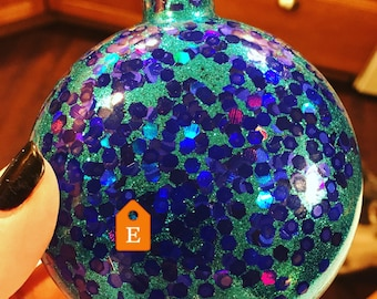 Personalized Glitter Christmas Bulb