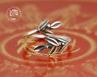 olive leaves silver ring, olive leaf ring, leaf ring, greek ring, greek jewelry, olive leaf, olive leaf silver, leaf jewelry, leaf silver