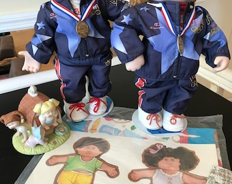 Vintage Cabbage Patch Set with Commemorative 1996 Olympics Figures