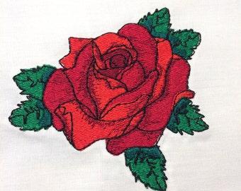 Tattoo Rose Machine Embroidery Design 4x4