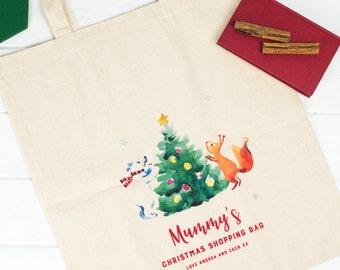 Christmas Shopping Tote Bag | Grocery Bag | Shopping Bag | Book Bag | Christmas Stocking | Christmas Gift | Custom Bag | Made In Scotland