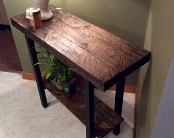 Entryway table, Foyer table, Console table, Rustic table