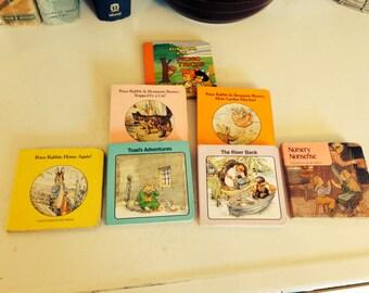 Seven Vintage Hard Back Hard Page Children's Books