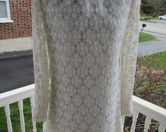 "Vintage ""Sandine Originals"" White Lace Dress"