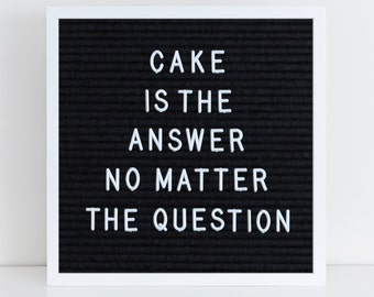 Cake is the Answer No Matter the Question