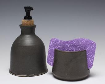Soap Dispenser and Sponge Holder Set