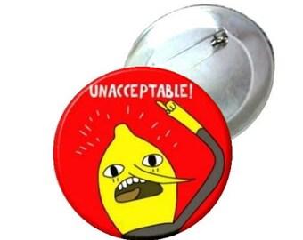 "Pinback Button - Adventure Time Lemongrab 1"" 1.25"" 2.25"""