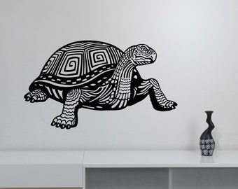Ornament Sea Turtle Wall Decal Vinyl Sticker Ocean Life Art Marine Wildlife Decorations for Home Living Room Bedroom Animal Decor trt1
