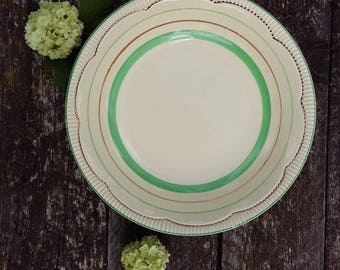 antique bowl vintage soup plate CLARICE CLIFF Newport Pottery tableware Made in England highly collectible bone china porcelain NO 840076