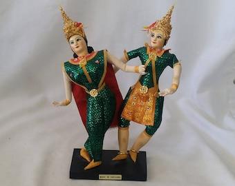 Thailand ~ Thai Dancers ~ Souvenir Dolls ~ Super Detailed Stockinette Dolls ~ Travel Dolls ~ Royal Classical Thai Dance Style