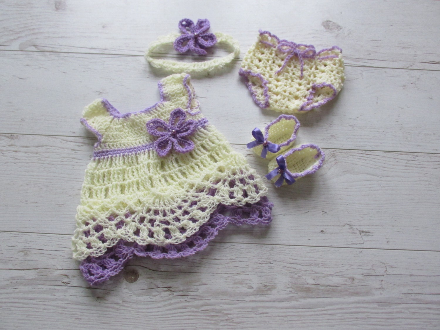 crochet baby dress diaper cover pattern headband pattern