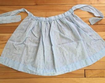Vintage 1950s Blue Stripe Half Apron!