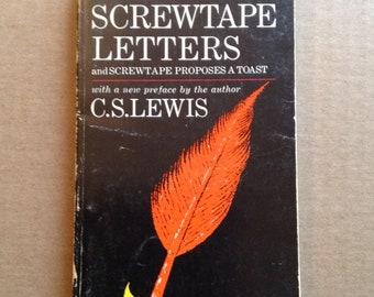 La tactique du diable de C.S. Lewis, livre Vintage, 1968, livre de poche, Screwtape propose un Toast, Macmillan, classique, lecteur cadeau