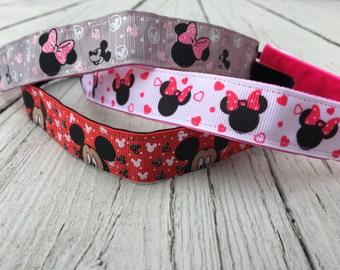 Disney Non Slip Headband || Workout Nonslip Headband - Minnie Mouse - Mickey Mouse - Disney - Gift - Disney World Headband