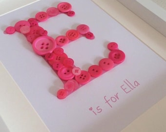 Personalised Button Letter