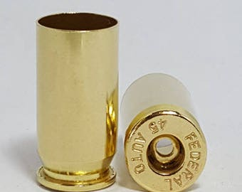 45 ACP (LPP) Once Fired Brass For Sale Cleaned. Free Shipping. Pkg of 100/200/500