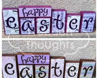 Easter blocks - happy easter