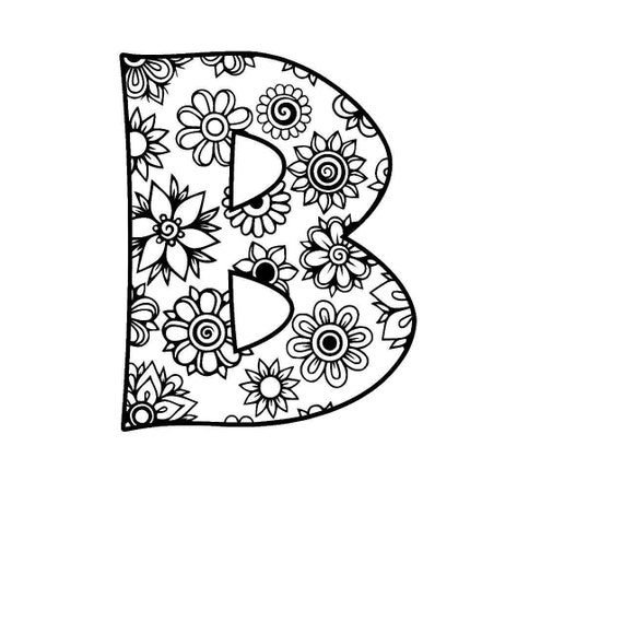 letter b alphabet flowers svg    jpeg    png   pdf    use with
