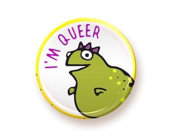 I'm Queer - round magnet