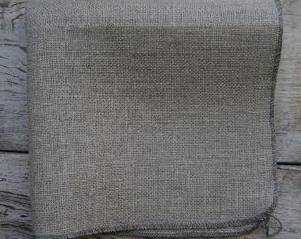"""Serged Linen~Rug Hooking 27.5"""" X 33"""""""