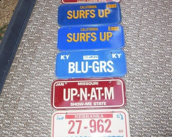 Bicycle license plates lot of 6 1983 & 84 metal