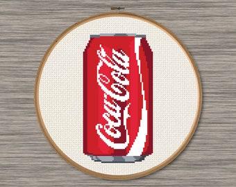 Coca-Cola Can - PDF Cross Stitch Pattern
