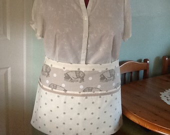 SALE..Half apron,fully lined