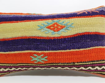 Sofa Pillow Embroidered kilim pillow 12x20 Room Decor decorative kilim pillow lumbar pillow boho pillow Kelim Kissen SP2550-556