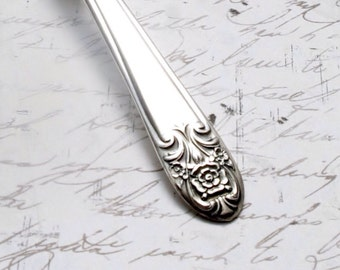 Handcrafted Spoon Key Ring MELODY Upcycled Vintage Silverplate Flatware