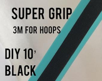 """SUPER grip DIY - 10 ft. x 1/3"""" 3M black Grip tape for hula hoops, tools, bicycle handles, tennis racket, golf club"""