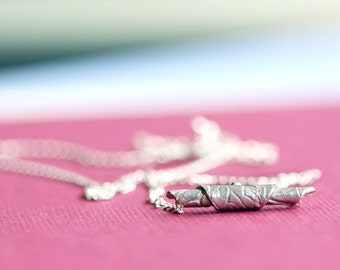 silver necklace, fine silver bead, sterling silver, aida
