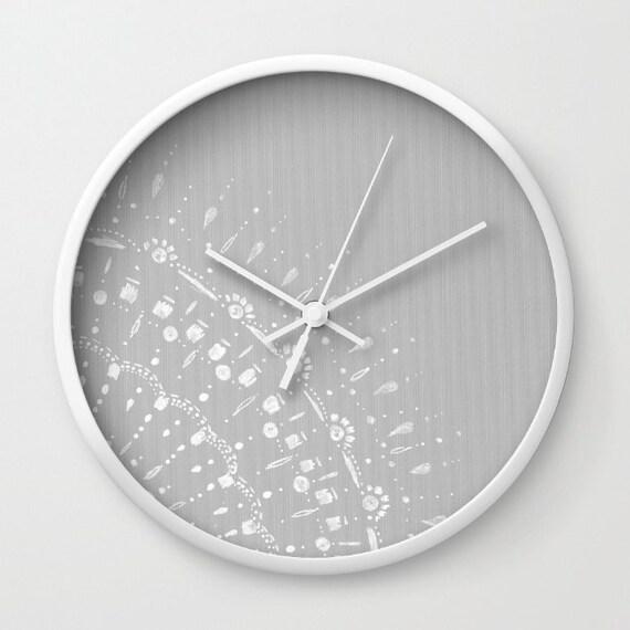 Moderne Uhr grau spitze wanduhr graue wanduhr grau moderne uhr moderne