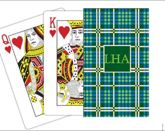 Playing cards personalized deck of cards card deck bridge deck