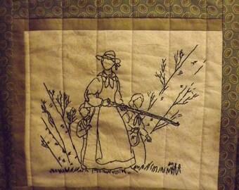 Civil War Stitchery Quilt Pattern-Protecting Home
