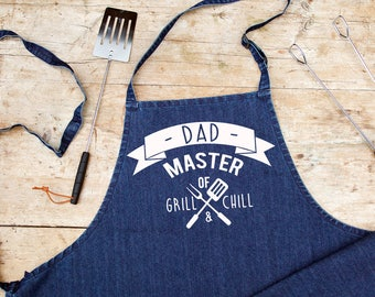 Personalised Blue Denim BBQ Apron