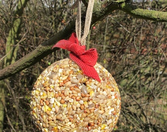Two Handmade Birdseed Baubles-Ideal Gift for Nature Lovers