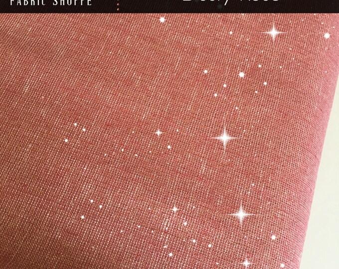 Essex Fabric, Gold fabric, Linen Blanket Fabric, Metallic fabric, Sparkle Fabric, Linen Skirt Fabric, Essex Linen, Metallic Essex Dusty Rose