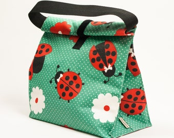 Zero waste food bag. Reusable lunch bag.  Lunch bag for women. Waterproof lunch bag. Adult lunch box. School lunch bag.