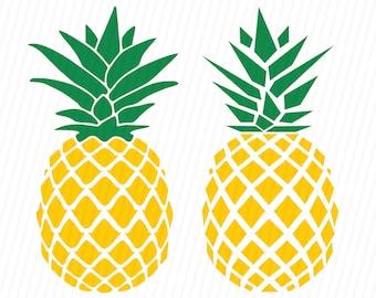 Pineapple SVG, Pineapple Monogram SVG, SVG Files, Cricut Cut Files, Silhouette Cut Files