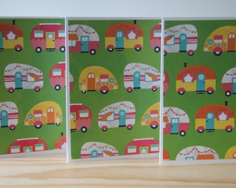 12 Vintage Camper Cards. Travel Trailer Note Cards. Camping Trip Cards. Camping Cards. Vacation Cards. Camper Thank You Cards