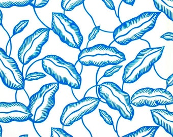 Leaves Blue - IKEA Avsiktlig Cotton Fabric