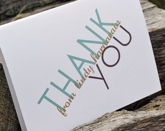 Personalized Thank You Notes for Wedding or Individual