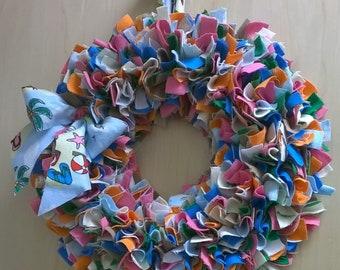 Summertime Rag Wreath