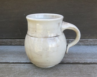 Handmade Ceramic Mug, Coffee Mug, Pottery Mug, Tea Mug, Rustic Patina White Limited Edition Gift Idea, Artisan Pottery by Licia Lucas Pfadt